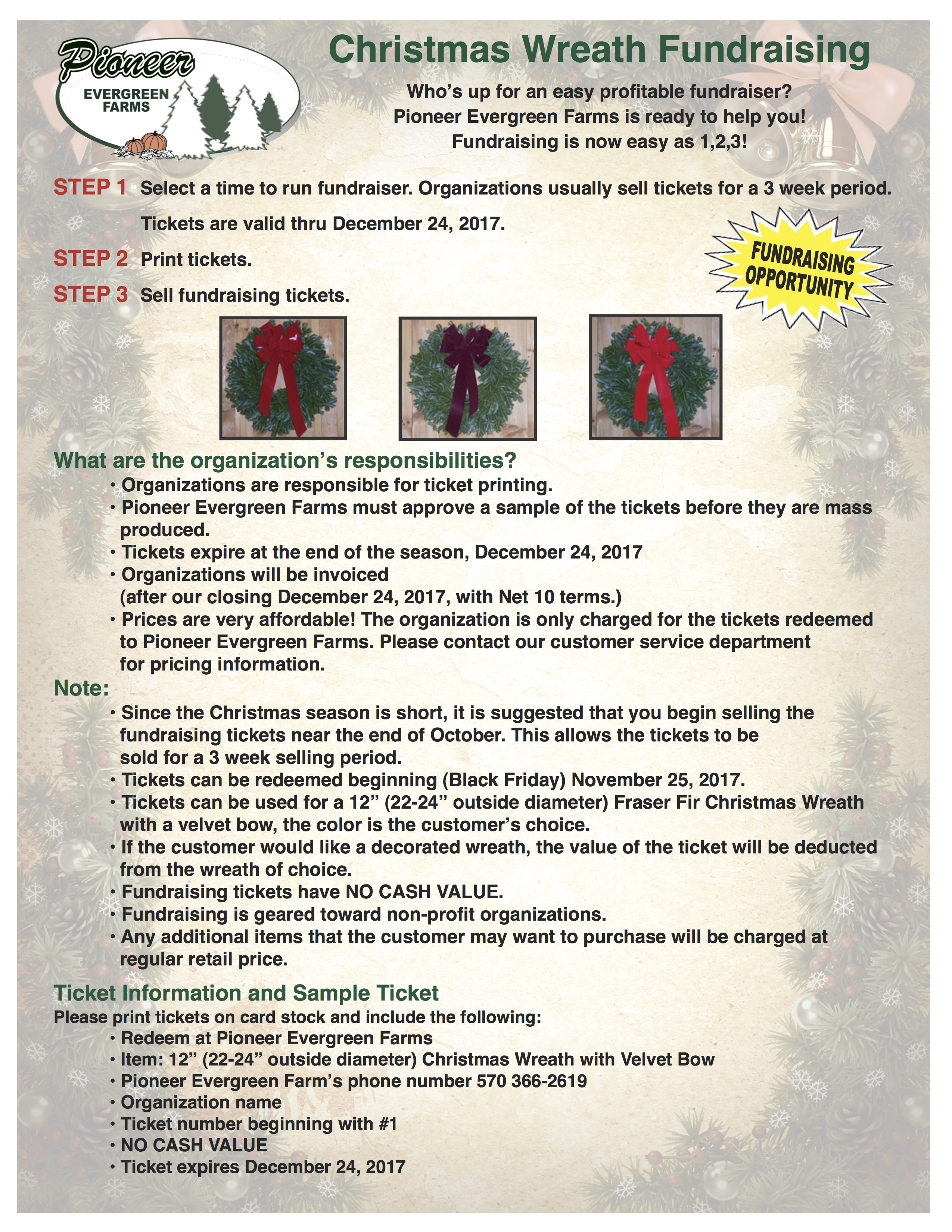 Fundraising Ideas For Organizations Christmas Wreaths