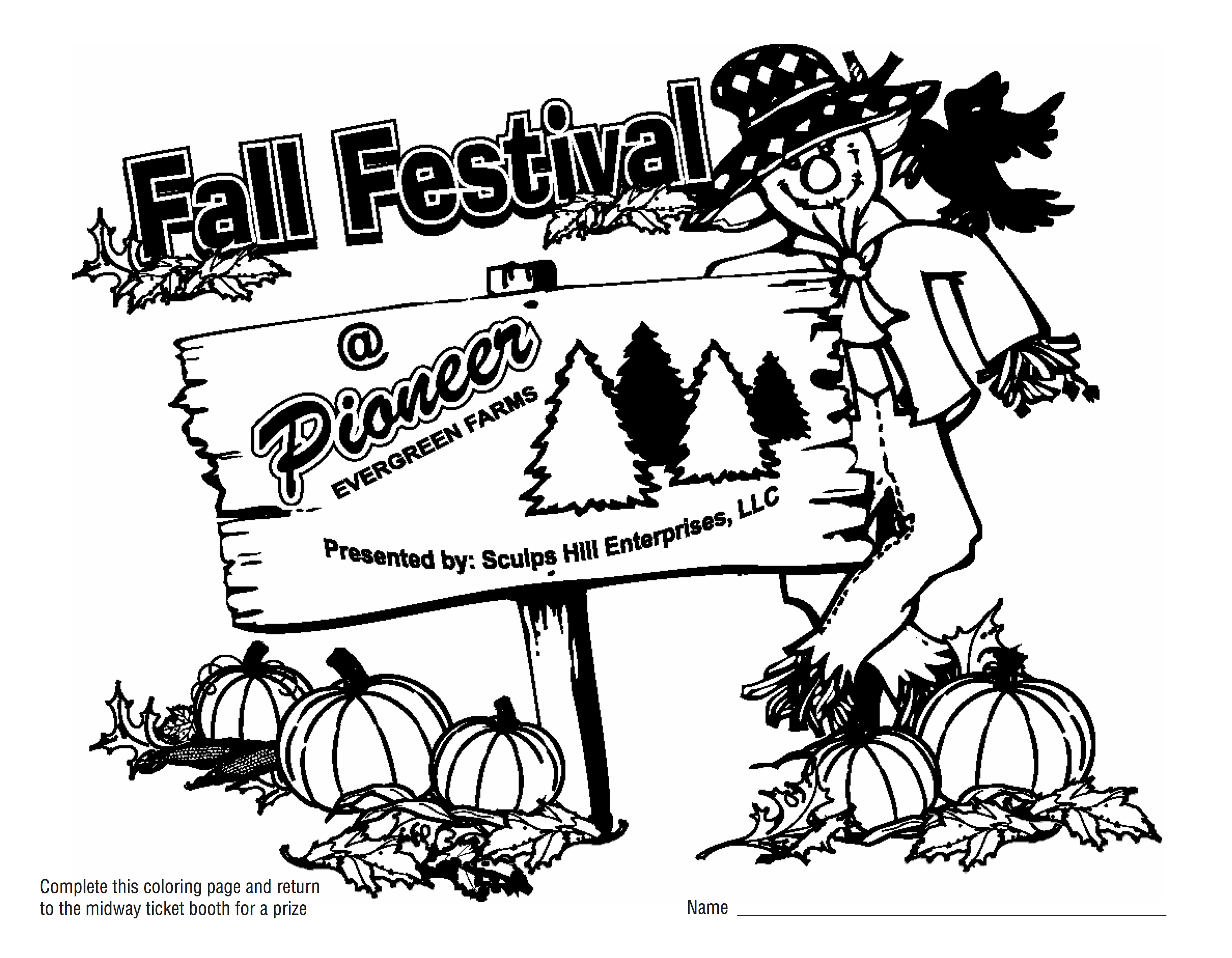fall festival coloring pages pioneer evergreen farms